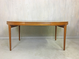Danish Modern nbspRound Teak Table by Torring with Two Leaves
