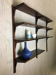 Rosewood WallMounted Shelving from Denmark