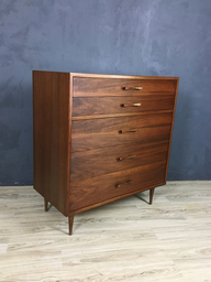 Mid Century Upright Walnut Bureau