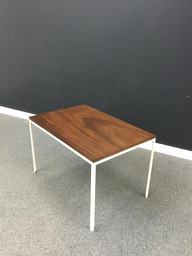Old Growth Walnut Accent Table with Metal Frame
