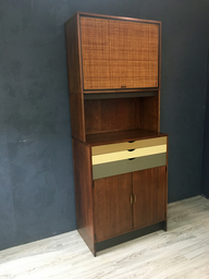 SALE  Custom Walnut Wall Cabinet