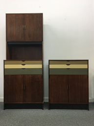 SALE  Custom Walnut Wall Cabinets