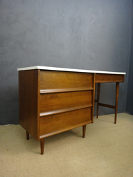 Mid Century Desk with White Painted Top