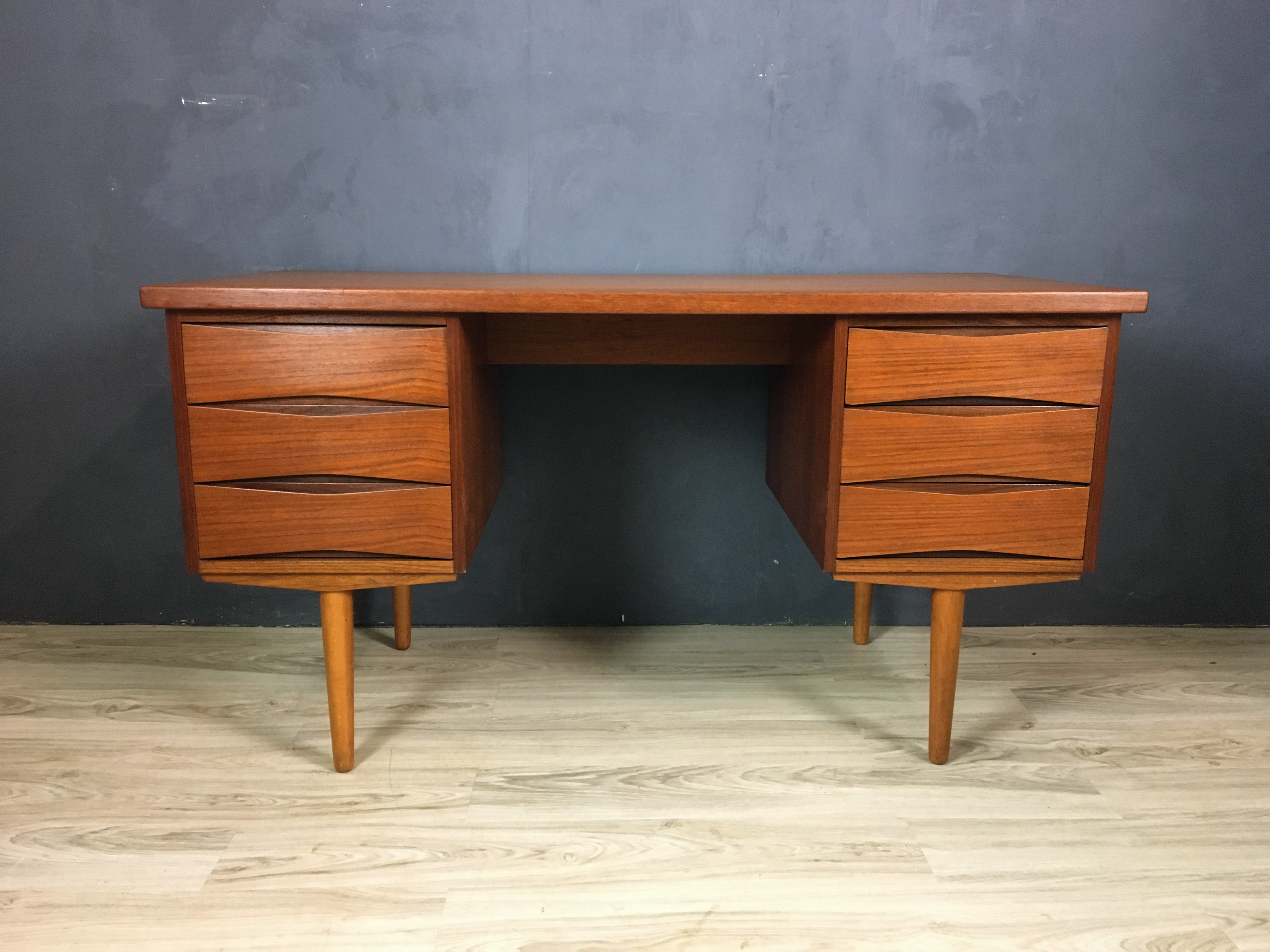 Danish Modern Teak Desk Attributed to Arne Vodder